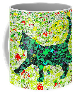 Flower Cat Coffee Mug
