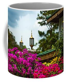 Flower Decoration Of Golden Temple Of Dambulla Coffee Mug