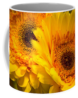 Coffee Mug featuring the photograph Flower Eyes by Steven Santamour
