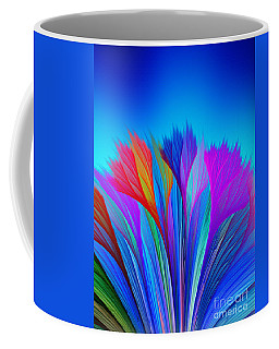Flower Fantasy In Blue Coffee Mug by Klara Acel