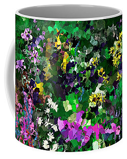 Coffee Mug featuring the digital art Flower Garden by David Lane