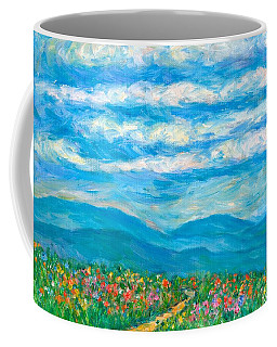 Flower Path To The Blue Ridge Coffee Mug by Kendall Kessler