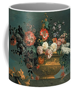 Flower Piece With Parrot Coffee Mug