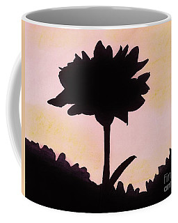 Coffee Mug featuring the drawing Flower - Sunrise by D Hackett