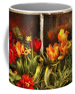 Flower - Tulip - Tulips In A Window Coffee Mug