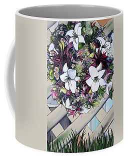 Floral Wreath Coffee Mug