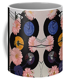 Flowers And Phonographs Coffee Mug by Nina Silver