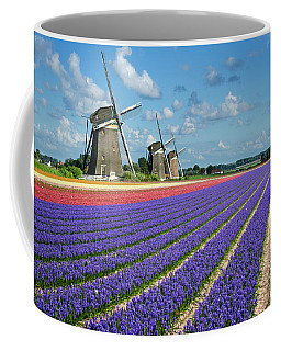 Landscape In Spring With Flowers And Windmills In Holland Coffee Mug