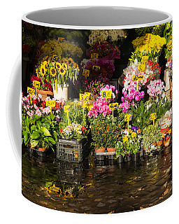 Flowers For Sale At Campo De Fiori - My Favourite Market In Rome Italy Coffee Mug
