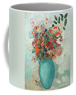 Flowers In A Turquoise Vase Coffee Mug