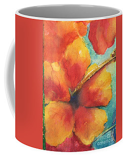 Coffee Mug featuring the painting Flowers In Bloom by Chrisann Ellis