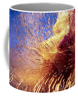 Coffee Mug featuring the photograph Flowers In Ice by Randi Grace Nilsberg