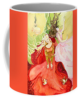 Coffee Mug featuring the painting Flowers In Water by Katherine Miller