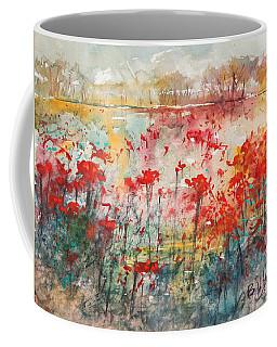 Flowers Never Worry Coffee Mug