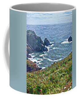 Flowers On Isle Of Guernsey Cliffs Coffee Mug