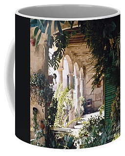 Flowery Majorquin  Patio In Valdemosa Coffee Mug