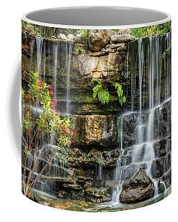 Coffee Mug featuring the photograph Flowing Falls by Dave Files