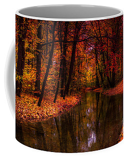 Flowing Through The Colors Of Fall Coffee Mug