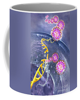Flu Virus Infecting A Host Cell Coffee Mug