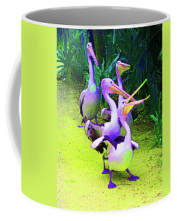 Fluorescent Pelicans Coffee Mug