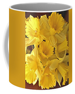 Coffee Mug featuring the photograph Flurry Of Daffodils by Diane Alexander