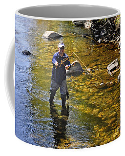Coffee Mug featuring the photograph Fly Fishing For Trout by Nava Thompson