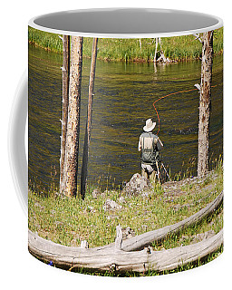 Coffee Mug featuring the photograph Fly Fishing by Mary Carol Story
