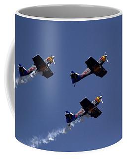 Coffee Mug featuring the photograph Flying Bulls by Ramabhadran Thirupattur