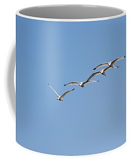 Coffee Mug featuring the photograph Flying Formation by John M Bailey