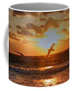 Coffee Mug featuring the photograph Flying In The Sun by Dennis Baswell