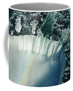 Flying Over Icy Niagara Falls Coffee Mug