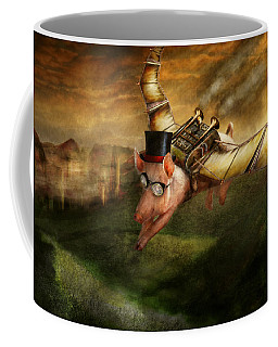 Flying Pig - Steampunk - The Flying Swine Coffee Mug