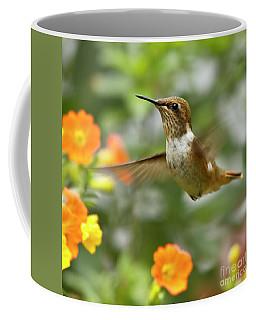 Flying Scintillant Hummingbird Coffee Mug