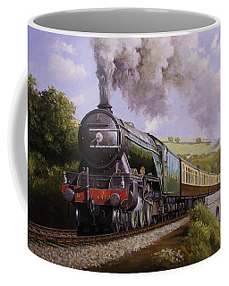 Flying Scotsman On Broadsands Viaduct. Coffee Mug