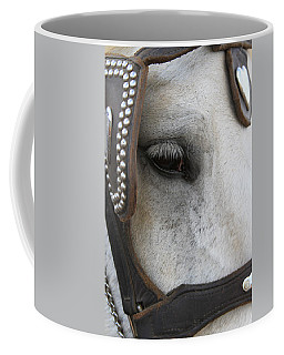 Coffee Mug featuring the photograph Focused On Pulling by Laddie Halupa
