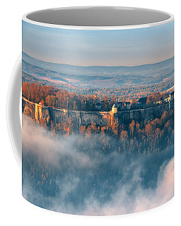 Fog Around The Fortress Koenigstein Coffee Mug