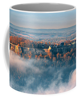 Fog Around The Fortress Koenigstein Coffee Mug