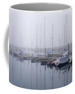 Fog In Marina I Coffee Mug