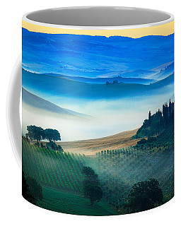 Fog In Tuscan Valley Coffee Mug