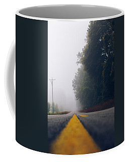 Fog On Highway Coffee Mug