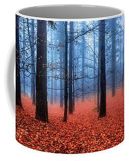 Fog On Leaves Coffee Mug