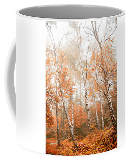 Foggy Autumn Aspens Coffee Mug by Eti Reid
