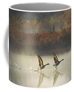 Foggy Autumn Morning Coffee Mug by Elizabeth Winter