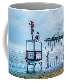 Foggy Beach View Coffee Mug