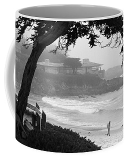 Foggy Day On Carmel Beach Coffee Mug