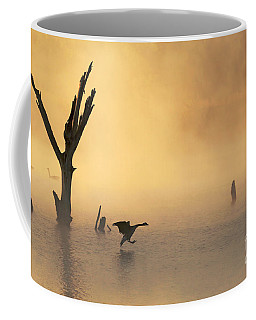 Foggy Landing Coffee Mug by Elizabeth Winter