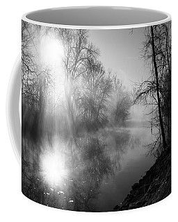 Foggy Misty Morning Sunrise On James River Coffee Mug