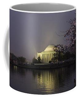 Foggy Morning At The Jefferson Memorial 1 Coffee Mug