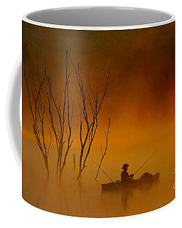 Foggy Morning Fisherman Coffee Mug by Elizabeth Winter