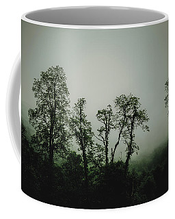 Foggy Mountain Morning At The Meadows Of Dan Coffee Mug by John Haldane